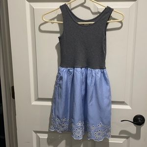 Gap cotton tank eyelet dress Sz L